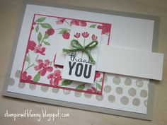 stampin up danke thank you card painted petals kordel wasabigrün match the sketch - STAMPINWITHFANNY