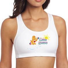 The Care Bears Logo Linda Denham Woman Cherished GraphicPrint Sport Bra *** You can get additional details at the image link.