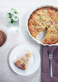 Sladký rebarborový koláč... Quiche, Breakfast, Food, Morning Coffee, Essen, Quiches, Meals, Yemek, Eten