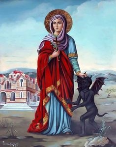 الشهيدة مارينا Chi Rho, Queen Of Heaven, Christian Religions, Catholic Art, Orthodox Icons, Blessed Mother, Christian Art, Doa, Our Lady