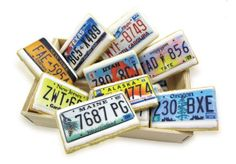 License Plate Cookies made with wafer paper images. Fun travel or celebration cookies (for a new driver in the house)!
