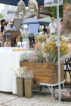 FLEURI (フルリ)| ドライフラワー dryflower リース wreath ブーケ 花束 スワッグ 東別院てづくり朝市 マルシェ イベント