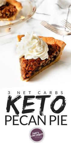 Low Carb Pecan Pie for if you love pecan pie and also need a delicious keto pecan pie version. This may be just the pie you've been searching for the holiday season! A corn syrup-free pecan pie that you will be happy to serve at your holiday table. Cheesecake Recipes, Pie Recipes, Low Carb Recipes, Dessert Recipes, Pecan Recipes, Dinner Recipes, Low Carb Pecan Pie Recipe, Protein Recipes, Cheesecake Bars