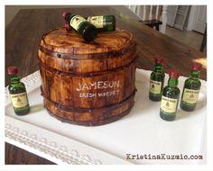 Jameson whiskey themed birthday cake 30th Birthday Cakes For Men, Happy Birthday Boy, 40th Cake, Birthday Gifts For Boys, Themed Birthday Cakes, 40th Birthday Parties, Birthday Dinners, Themed Cakes, Birthday Ideas