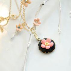 Polymer Clay Halskette schwarze Halskette Halskette von joojooland