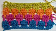 How to crochet the larksfoot stitch tutorial on Craftsy