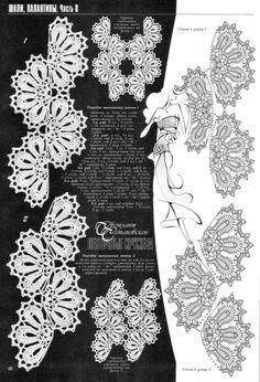 Photo from album on Irish Crochet Patterns, Crochet Borders, Crochet Diagram, Freeform Crochet, Crochet Chart, Crochet Trim, Crochet Motif, Crochet Designs, Crochet Lace