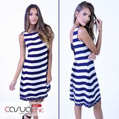 A comfortable and beautiful dress, perfect for outdoors, party,and cocktail. . #BlueAndWhiteStripes #CasualAndChic  #HappyThursday #Miami #OnlineShopping #OnlineBoutique #Fashion #Fashionista