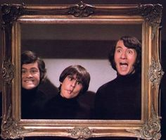 Portrait of a Monkee in its Natural Habitat.. Micky Dolenz, Davy Jones, and Mike Nesmith.