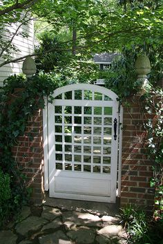Owner designed and built this gate. Garden Entrance, Garden Doors, Entrance Gates, Pergola Garden, Garden Trellis, Backyard, Courtyard Landscaping, Side Gates, Front Gates