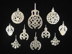 African Tribal Art - Silver pendants, Egypt, Libya and Tunisia