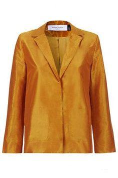 **Relaxed Mensy Silk Blazer by Marques'Almeida X Topshop