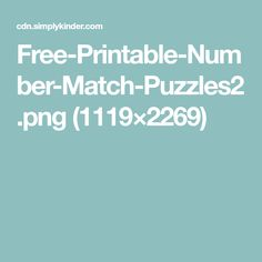 Free Printable Numbers, Free Printables, Number Matching, Content, Education, Note Cards, Free Printable, Onderwijs, Learning