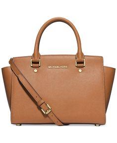 MICHAEL Michael Kors Handbag, Selma Medium Satchel - Handbags & Accessories - Macy's