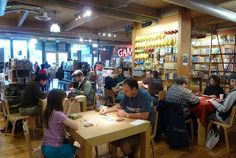 Card Kingdom Inc, Ballard, Seattle - a place not just for nerds! Try out many unique board games with friends and family for free at one of their tables.