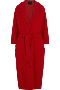 Maje Grenat oversized wool coat | NET-A-PORTER