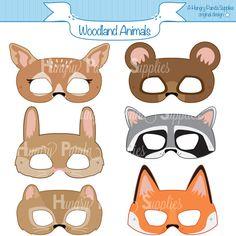 Woodland Forest Animals Printable Masks woodland animal mask