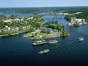 Provincial Museum Riihisaari and Olavinlinna Castle. Savonlinna, Finland.