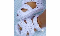 Free Baby Crochet Patterns | Cc21B-classic Crochet Baby Sandals Pattern
