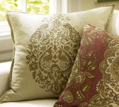 New throw pillows for our couch!  Pottery Barn