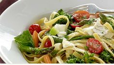 Market Day Tagliatelle with Goat Cheese