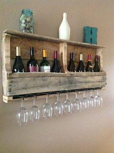 Reclaimed Wood Wine Rack natural by DelHutsonDesigns on Etsy, $120.00