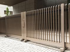 These days, with the increasing number of reported burglary and thefts, it is essential that you have arranged for proper security measures. There are many ways through with the intruders can get a… Gate Designs Modern, Modern Fence Design, Grill Gate Design, Door Gate Design, Exterior Wall Tiles, Wooden Fence Gate, Fence Builders, Steel Security Doors, Boundary Walls