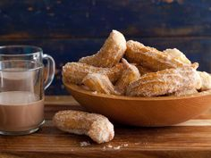 Churros: Sweet Mexican crullers are coated with cinnamon and sugar and served immediately for the best crispy finish.