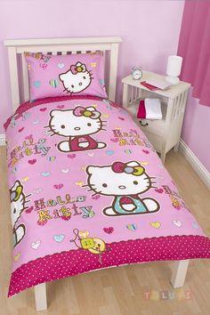 Parure de lit Hello Kitty Folk http://www.toluki.com/prod.php?id=542 #Toluki #enfant #chambre