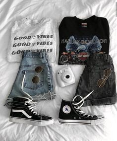 Wear or tear? Incredible outfit idea by Outfits With Converse, Edgy Outfits, Teen Fashion Outfits, Retro Outfits, Grunge Outfits, Cute Casual Outfits, Vintage Outfits, Summer Outfits, Girl Outfits