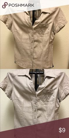 For Cynthia bottom down blouse For Cynthia bottom down blouse. 55% linen 45% cotton For Cynthia  Tops Button Down Shirts
