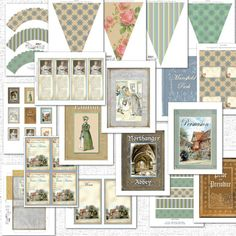 """Create a Jane Austen theme party with this printable instant download party kit. Great for birthdays, showers, weddings, etc. Banner with book covers also comes with this kit. Print out on 8.5"""" x 11"""" card stock, cut, and assemble. Directions included. Print as many as you need.  Jane Austen Party includes:  Fill-in invitations 4"""" x 5"""" (fits in 4.5"""" x 5.75"""" invitation envelopes) Banner with six Jane Austen book covers Pennant Bunting Banner - 4 files (not shown in photos) Sense and Sensibility..."""