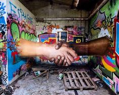 """Street Art 360 / """" Graffiti is only sharing """" by Jeaze Montpellier , France 3d Street Art, Murals Street Art, Street Art Graffiti, Street Art News, Amazing Street Art, Street Artists, Amazing Art, Banksy Graffiti, Wall Street"""