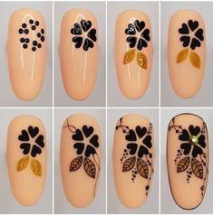 Nail design is an art. The great nail designer has completed a large number of nail art designs. If you haven't seen the process of nail design with your own eyes, you must want to know how beautiful nails are designed. New Nail Art, Cute Nail Art, Nail Art Diy, Diy Nails, Manicure, Flower Nail Designs, Flower Nail Art, Simple Nail Designs, Nail Art Techniques