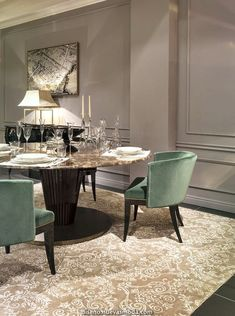 Modern dining table, wooden dining room chairs, accent chairs for living ro Living Room Interior, Home Interior, Luxury Interior, Modern Interior Design, Luxury Furniture, Modern Interiors, Modern Decor, French Interior, Bespoke Furniture