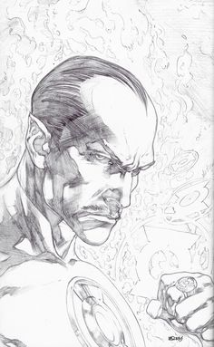 Ivan Reis - Green a lantern New 52 Issue 1 - Pencil cover sketch