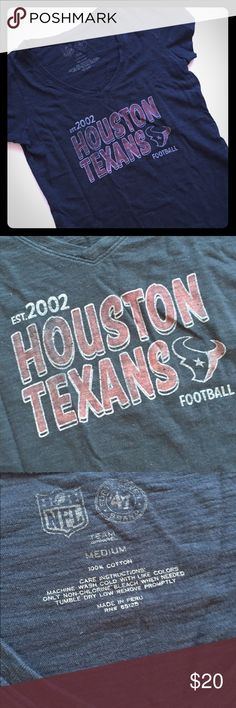 47 Brand Houston Texans T-shirt Texans fan? This is a Houston Texans fan super soft shirt by 47 Brand. Worn only a couple times. It's a rustic vintage blue. 47 brand Tops Tees - Short Sleeve