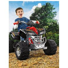 Fisher-Price Power Wheels Kawasaki KFX 12-Volt Battery-Powered Ride-on, Red