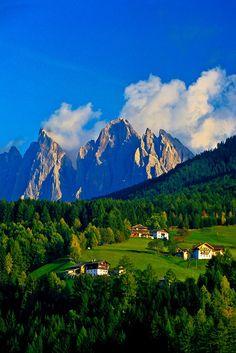 San Pietro, Funes Valley, Dolomites, Trentino Alto Adige, Italy