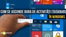 Află cum se poate ascunde bara de activități (taskbar) în Windows 10 Windows 10, Desktop Screenshot, Bar