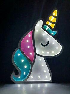Luz de decoración unicornio