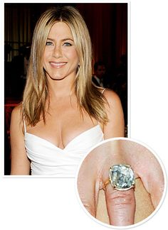Jennifer Aniston S Engagement Ring Looks Cloudy 26 Engagement