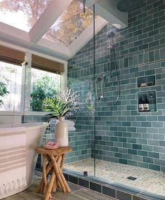 Dream Home Design, My Dream Home, House Design, Design For Home, Loft Design, Garden Design, Bathroom Colors, Colorful Bathroom, Bathroom Goals