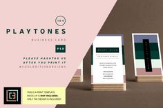 Playtones - Business Card 104 by Cooledition on @creativemarket