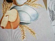 Pintura em Tecido - como pintar Pão e Tacho - how to paint bread and pot - YouTube