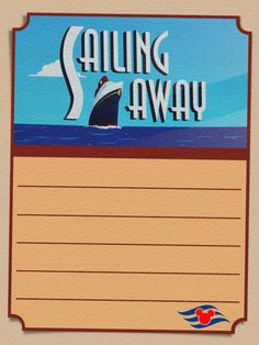 Disney Cruise Line - Sailing Away Party - Project Life Journal Card - Scrapbooking. This card is **Personal use only - NOT for sale/resale** Logos/clipart belong to Disney. Project Life Scrapbook, Project Life Cards, Scrapbook Journal, Journal Cards, Life Journal, Cruise Scrapbook Pages, Disney Scrapbook, Travel Scrapbook, Disney Cruise Line