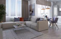Интерьер Фото 03.08.2016/540532 Дизайн проект для квартиры 65 м2 с небольшим бюджетом от Студии интерьеров FoxLab_interior. Гостиная Современная Foxlab Interior