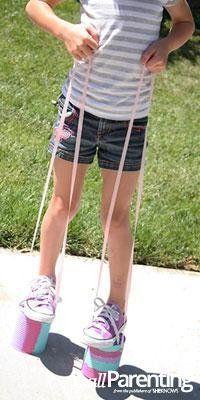 Kid craft: Can stilts