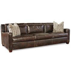 Huntington House 7237-20 sofa shown in distressed bomber jacket-like leather #furniture #interiordesign #decor