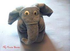 how to fold elephant wash cloth | How to Fold a Towel Elephant | Cruise Stories